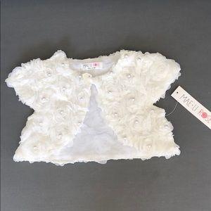 Pearl Rosette Jacket/Bolero